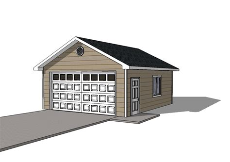 Garage Plan Shop by Detached Garage Plans 20x22 Garage Single Door