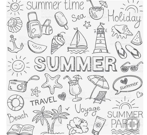 Summer Sketches 82 by Summer Icons Bullet Journal