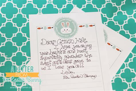 Letter From Easter Bunny Printable