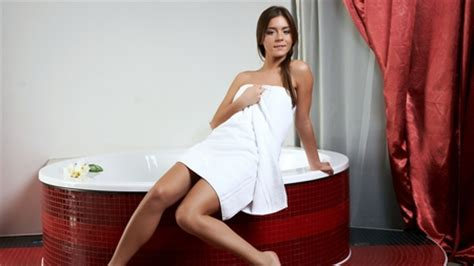 seks in the bathroom girl in bathtub models female people background