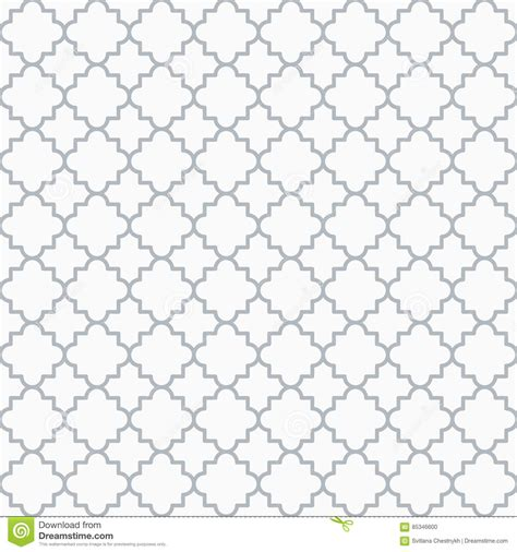 pattern grey and white traditional quatrefoil lattice pattern outline stock
