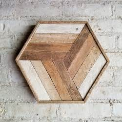 reclaimed wood wall decor cube gradient lath 12 x 14