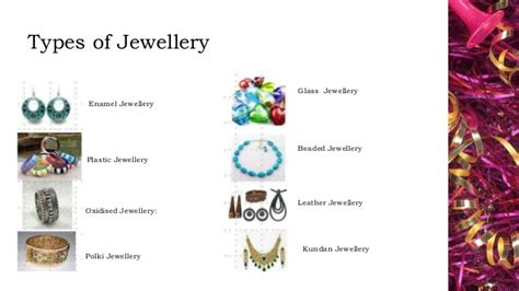 types of jewelry fashion jewellery