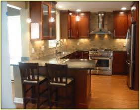 kitchen tile backsplash ideas with cherry cabinets home design