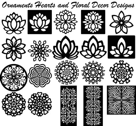 design art files ornaments hearts floral decor designs dxf files cut ready
