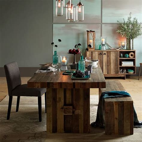 West Elm Rustic Dining Table Emmerson 174 Reclaimed Wood Dining Table West Elm