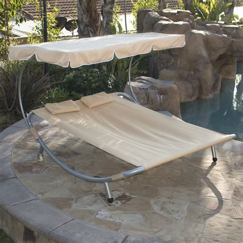 chaise lounge with canopy new hammock bed lounger double chair pool chaise lounge