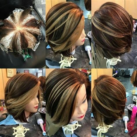 pattern hair color another amazing pinwheel techniqe hair color pinterest