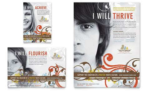 youth flyer template free church youth flyer ad template design