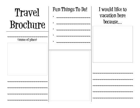 How To Make A Travel Brochure On Paper - travel brochure project template part i complete the