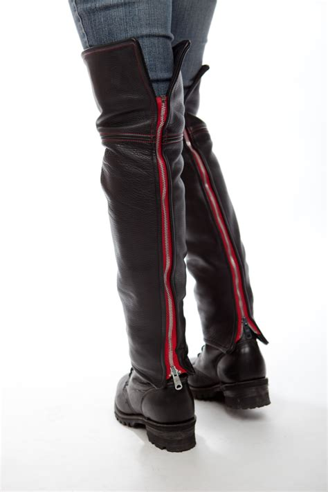 motorcycle half boots s thigh high leather half chaps lissa hill leather