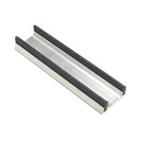 Aluminum Sliding Cabinet Door Track Aluminum Sliding Door Lower Track For 3 4 Thick Doors 1 3 16w X 15 32h X 48l Anodized