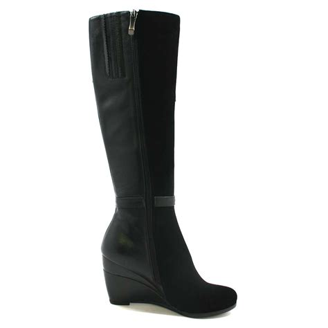 solemani s ronit black leather boot narrow calf 179 99 slim and calf boots