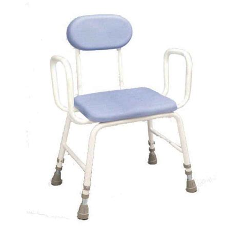 Perching Stool With Back And Arms by Pu Moulded Perching Stool With Low Arms Padded