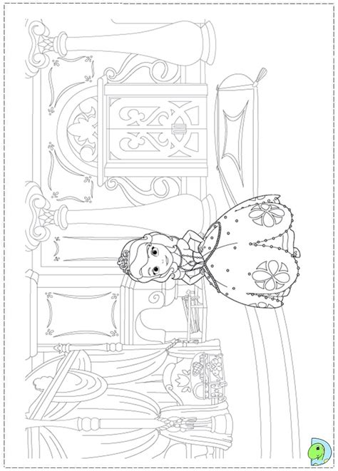 free sophia the first coloring pages