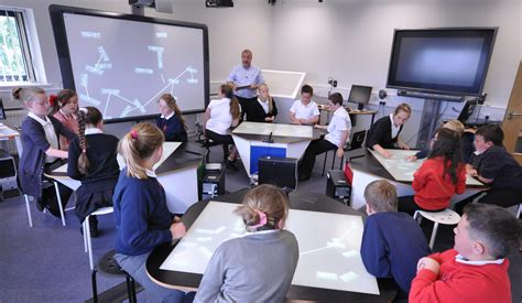 in class room classroom of the future with multitouch desks synergynet sebastian waack