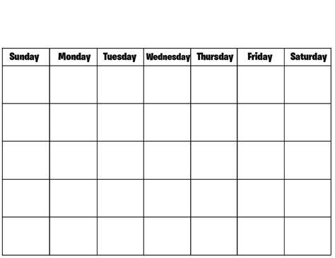 blank calendar template fotolip