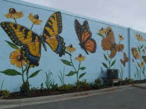 Outdoor Wall Mural Gorgeous Butterfly Wall Mural Decorating Ideas