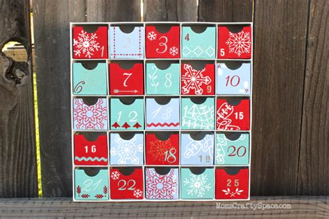 how to make an advent calendar box screen printed advent calendar happiness is