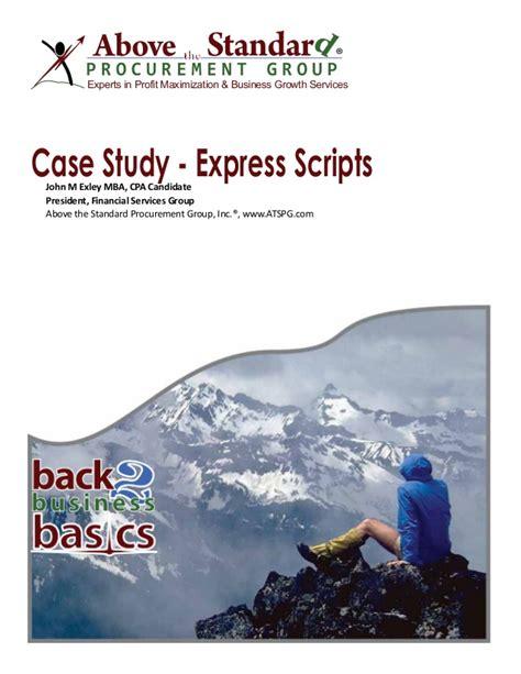Express Scripts Holding Mba Internship by 33 1 031 Ats Express Scripts Analysis