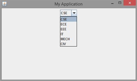 swing jcombobox swing controls core java tutorial for beginners