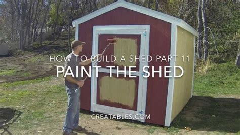 how to build a shed part 11 how to paint a shed