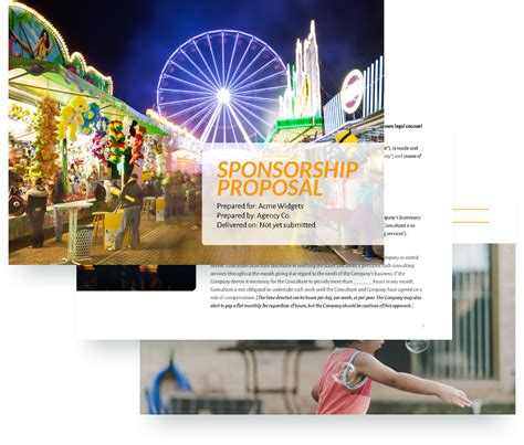Sponsorship Template Design Sponsorship Template Free Sle