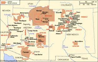 indian tribes in arizona map