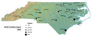 carolina map of cities towns and villages carolina digital history