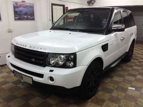white wrapped range rover range rover sport white wrap by wrapping cars