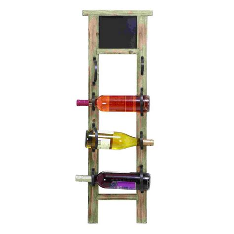 Lowes Wine Rack by Shop Woodland Imports Unique 4 Bottle Wall Mount Wine Rack