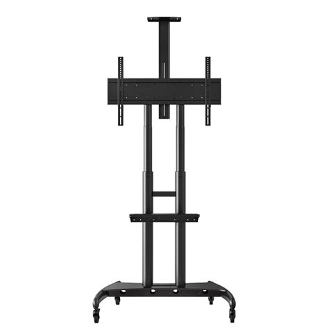 Adjustable Height Shelf by Luxor Adjustable Height Large Tv Stand W Shelf 40 Quot 80