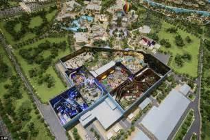 theme hotel dubai model of dubai s 2 8bn theme park extravaganza with 100