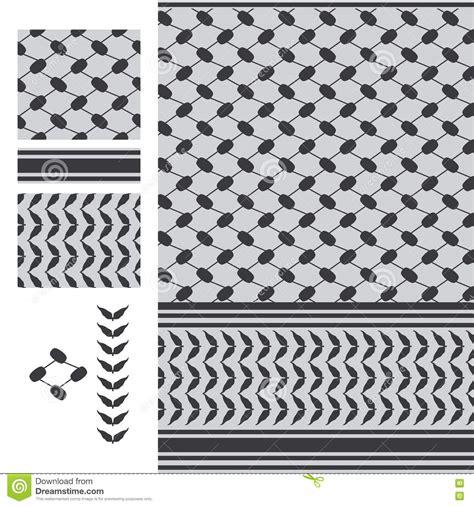 black and white clothing pattern palestine keffieh black white seamless pattern stock