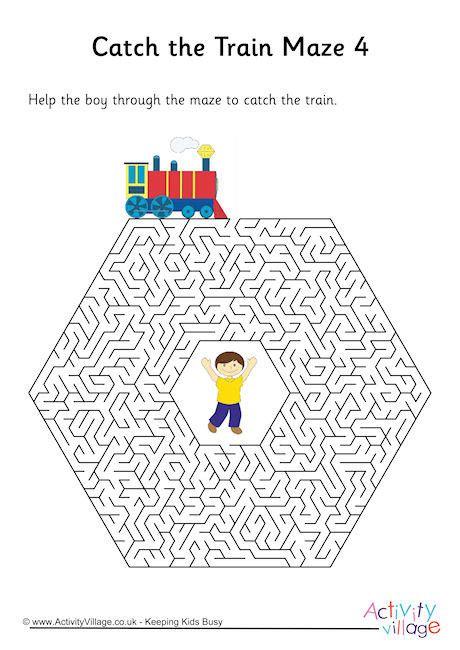 printable train maze train maze 4