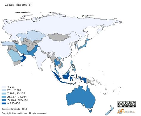 asia oceania map asia and oceania map cobalt exporting countries