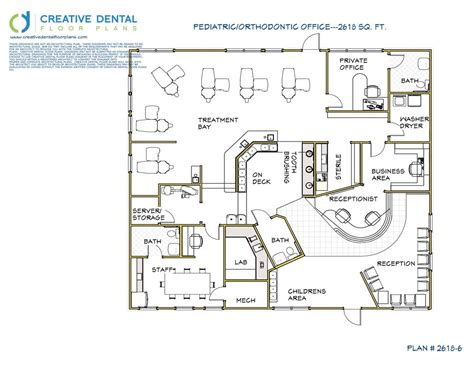 Orthodontic Office Design Floor Plan | creative dental floor plans orthodontist floor plans