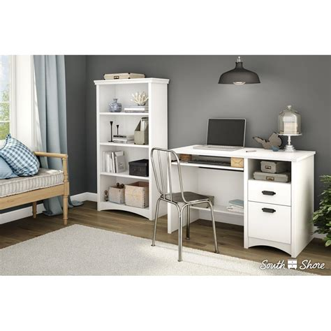 Gascony White 4 Shelf Bookcase White 4 Shelf Bookcase