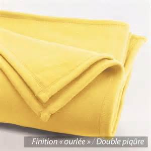couverture polaire 240x260 cm isba jaune pollen 100