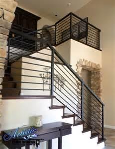 Indoor Metal Handrails Modern Wrought Iron Stair Railings Wrought Iron Railings