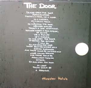 The Door Miroslav Holub Essay by Emerging Writer Poetry In A Box