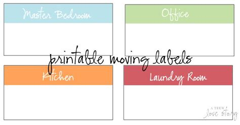 free printable moving box labels organization pinterest