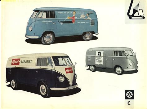 volkswagen old van the vintage vw van presented in dealer book glory