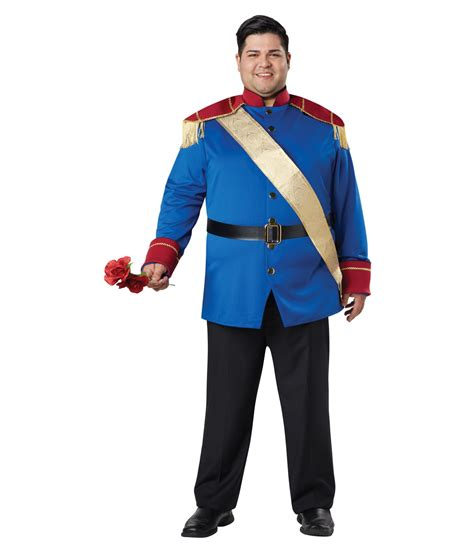 handsome storybook prince charming plus mens costume
