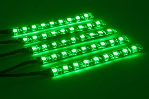 led changing light strip motorcycle led lighting kit multi strip remote activated