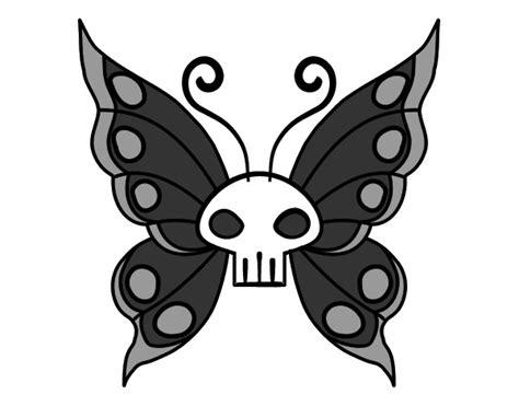 imagenes emo para colorear dibujo de mariposa emo pintado por amores en dibujos net
