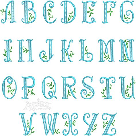 tree pattern font palm tree embroidery font