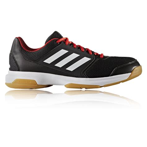 adidas multido 50 mens black squash indoor sports shoes trainers pumps