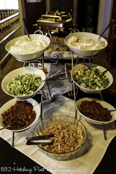 mashed potato bar toppings wedding appetizers