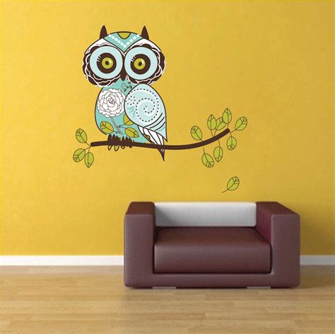 owl wall mural owl design wall decal animal wall decal murals primedecals
